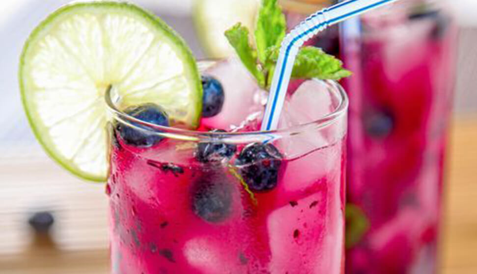 Mojito Blueberry cocktail